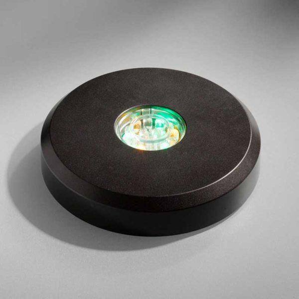 Base led Tonda nera LED black round base