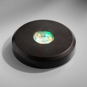 Base led Tonda nera LED black round base