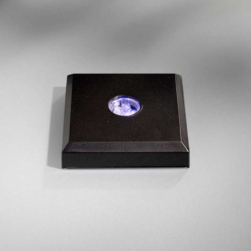 base Led quadrata nero