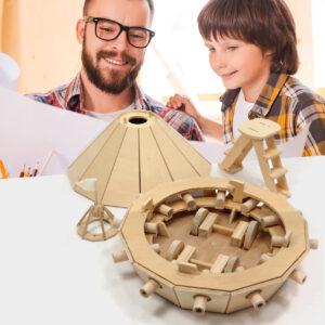 Wooden Toys - Working re-recreation of Leonardo da Vinci's